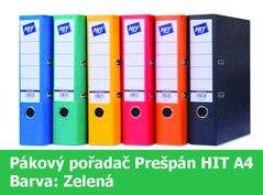 Pořadač pákový HIT A4, KV8R Prešpán, zelený, RADO, 7,5cm, 260.03