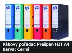 Pořadač pákový HIT A4, KV8R Prešpán, černý, RADO, 7,5cm, 260.10