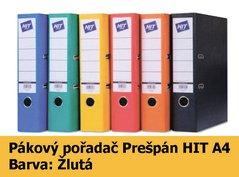 Pořadač pákový HIT A4, KV8R Prešpán, žlutý, RADO, 7,5cm, 260.05
