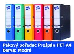 Pořadač pákový HIT A4, KV8R Prešpán, modrý, RADO, 7,5cm, 260.01