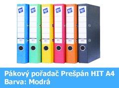 Pořadač pákový HIT A4, KV5R Prešpán, modrý, RADO, 5cm, 272.01