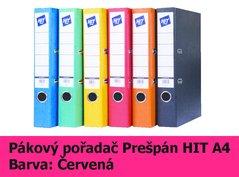 Pořadač pákový HIT A4, KV5R Prešpán, červený, RADO, 5cm, 272.06