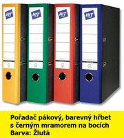 Pořadač pákový HIT A4, KV8R barevný hřbet, žlutý, RADO, 7,5cm, 282.05