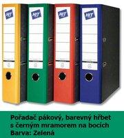Pořadač pákový HIT A4, KV8R barevný hřbet,  zelený, RADO, 7,5cm, 282.03