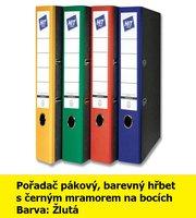 Pořadač pákový HIT A4, KV5R barevný hřbet, žlutý, RADO, 5cm, 283.05