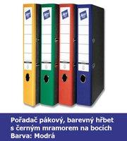 Pořadač pákový HIT A4, KV5R barevný hřbet, modrý, RADO, 5cm, 283.01