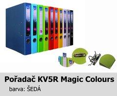 Pořadač pákový HIT A4, KV5R MAGIC COLOURS, šedý, RADO, 5cm, 338.13