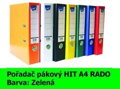 Pořadač pákový HIT A4, KV8R PP Plus, zelený, RADO, 7,5cm, 355.03