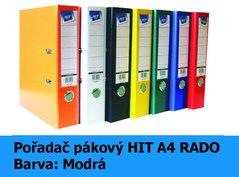 Pořadač pákový HIT A4, KV8R PP Plus, modrý, RADO, 7,5cm, 355.01