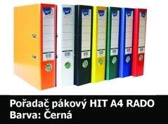 Pořadač pákový HIT A4, KV8R PP Plus, černý, RADO, 7,5cm, 355.10