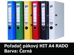 Pořadač pákový HIT A4, KV5R PP Plus, černý, RADO, 5cm, 356.10
