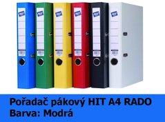 Pořadač pákový HIT A4, KV5R PP Plus, modrý, RADO, 5cm, 356.01