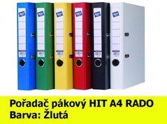 Pořadač pákový HIT A4, KV5R PP Plus, žlutý, RADO, 5cm, 356.05