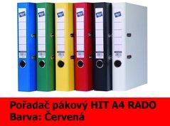 Pořadač pákový HIT A4, KV5R PP Plus, červený, RADO, 5cm, 356.06