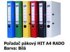 Pořadač pákový HIT A4, KV5R PP Plus, bílý, RADO, 5cm, 356.00