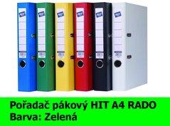 Pořadač pákový HIT A4, KV5R PP Plus, zelený, RADO, 5cm, 356.03