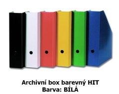 Box archivní barevný HIT, bílý, seříznutý, 32,5x25,5x7,5cm, 216.02