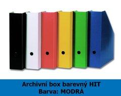 Box archivní barevný HIT, modrý, seříznutý, 32,5x25,5x7,5cm, 216.06
