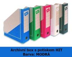 Box archivní Board Colour HIT, modrý, seříznutý s potiskem, 30x23x7,5cm, 280.01
