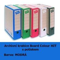 Archivní krabice Board Colour HIT, modrá s potiskem, 33x26x7,5cm, 279.01
