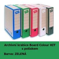 Archivní krabice Board Colour HIT, zelená s potiskem, 33x26x7,5cm, 279.02