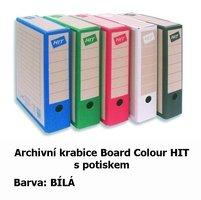 Archivní krabice Board Colour HIT, bílá s potiskem,  33x26x7,5cm, 279.03