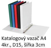 Vazač katalogový A4 s přebalem, 4 kroužky, 3cm, bílý, D15 5-111 PERSONAL