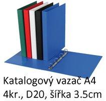 Vazač katalogový A4 s přebalem, 4 kroužky, 3.5cm, modrý, D20 5-123 PERSONAL