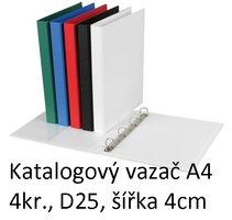 Vazač katalogový A4 s přebalem, 4 kroužky, 4cm, bílý, D25 5-131 PERSONAL