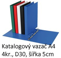 Vazač katalogový A4 s přebalem, 4 kroužky, 5cm, modrý, D30 5-143 PERSONAL
