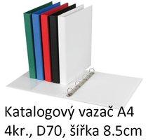 Vazač katalogový A4 s přebalem, 4 kroužky, 8.5cm, bílý, D70 5-171 PERSONAL