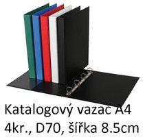 Vazač katalogový A4 s přebalem, 4 kroužky, 8.5cm, černý, D70 5-172 PERSONAL