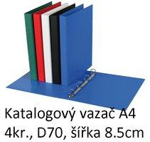 Vazač katalogový A4 s přebalem, 4 kroužky, 8.5cm, modrý, D70 5-173 PERSONAL