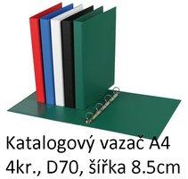Vazač katalogový A4 s přebalem, 4 kroužky, 8.5cm, zelený, D70 5-175 PERSONAL