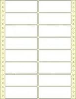 Etikety s vodící perforací,102x36/8000et, 2 - řadé, bílé, široké, OTK