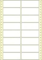 Etikety s vodící perforací,  90x36/8000et, 2 - řadé, bílé, široké, OTK