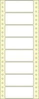 Etikety s vodící perforací,  90x36/8000et, 1 - řadé, bílé, úzké, OTK
