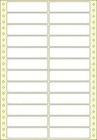Etikety s vodící perforací,  90x23/12000et, 2 - řadé, bílé, široké, OTK