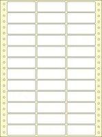 Etikety s vodící perforací,  64x23/18000et, 3 - řadé, bílé, široké OTK