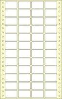 Etikety s vodící perforací,  38x23/24000et, 4 - řadé, bílé, široké, OTK