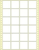 Etikety s vodící perforací,  50x48/12000et, 4 - řadé, bílé, široké, OTK