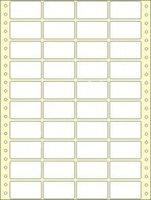 Etikety s vodící perforací,  48x27/20000et, 4 - řadé, bílé, široké, OTK