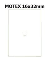 Etikety cenové 16x23mm/54kot (870et) Motex bílé obdélníkové