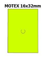 Etikety cenové 16x23mm/54kot (870et) Motex žluté signální obdélníkové