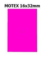Etikety cenové 16x23mm/54kot (870et) Motex růžové signální obdélníkové