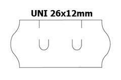 Etikety cenové 26x12mm/36kot (1500et) UNI bílé zaoblené