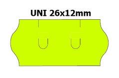 Etikety cenové 26x12mm/36kot (1500et) UNI žluté signální zaoblené