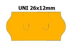 Etikety cenové 26x12mm/36kot (1500et) UNI oranžové signální zaoblené