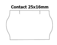 Etikety cenové 25x16mm/36kot (1150et) Contact bílé zaoblené