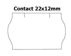 Etikety cenové 22x12mm/42kot (1500et) Contact bílé zaoblené